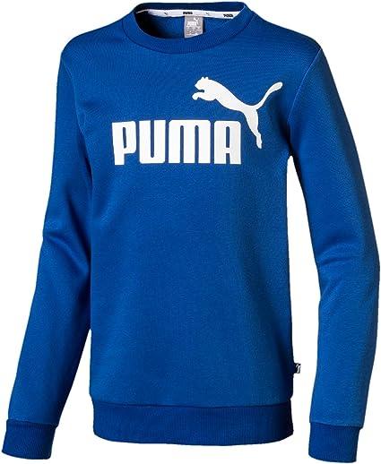 PUMA Ess Logo Crew Sweat FL B Pull Garçon: : Sports