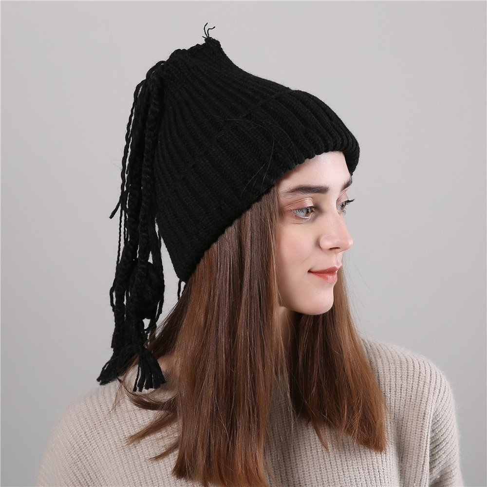 07df93473a693 TWGONE Womens Slouchy Beanie Winter Hat Knit Warm Snow Ski Skull Cap Wool  Solid Manual Braid Beanie Crochet Cap(One Size