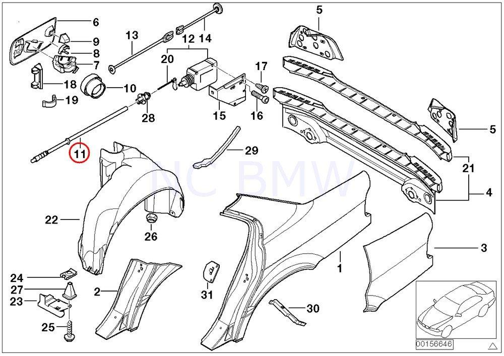 Amazon Bmw Genuine Actuator Bowden Cable Automotive 1996 Bmw 7
