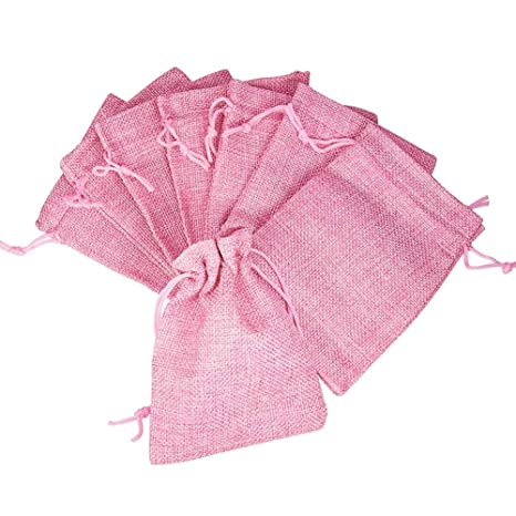 Pandahall Elite 20pcs de arpillera pequeñas cordón bolsas de ...
