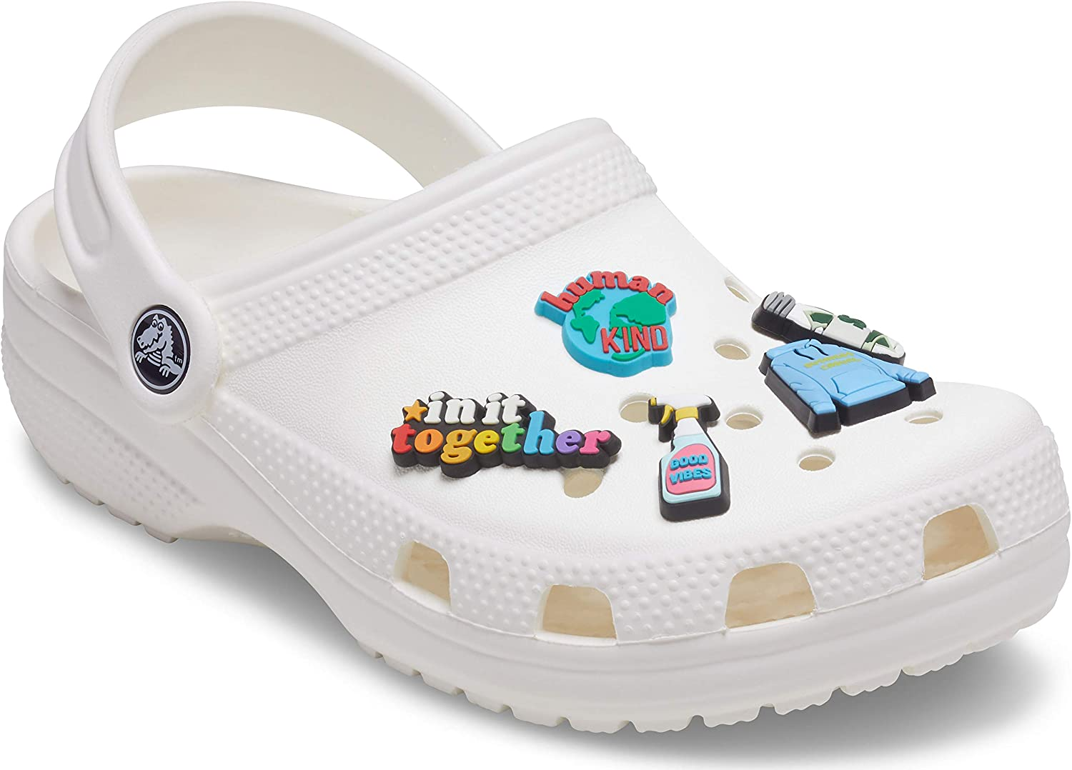Crocs Shoe Charms 5-Pack   Personalize Jibbitz, Stay Home, Small