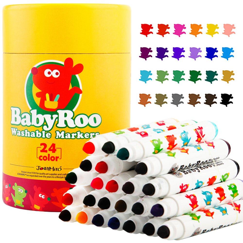 Joan Miro Kids Watercolor Markers Washable Non-toxic Set 24 colors