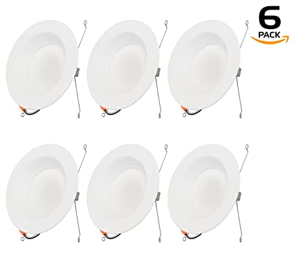 Stateside Lighting 6 Pack 19W 6u0026quot; Inch Recessed Lighting Kit Dimmable LED Retrofit Downlight With  sc 1 st  Amazon.com & Stateside Lighting 6 Pack 19W 6