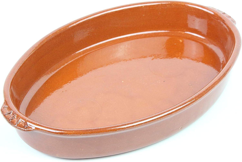 ARTESANIAROCA Cazuela ovala de Barro refrectario. Ideal para el Horno. Se Puede Utilizar en electrico, Gas, vitroceramica, lavavajillas y alimentación. Made in Spain. Barro de Calidad (38)