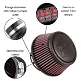 K&N RA-055V Universal Clamp-On Air Filter: Round