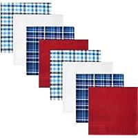 Retreez 8 Piece Pure Cotton Assorted Men's Handkerchiefs Hanky Gift Box Set, Christmas gift - Assorted Set A5A002