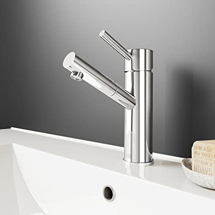 Stupendous Vigo Vg01009Ch Noma Modern Bathroom Faucet Single Hole Deck Mount Lavatory Faucet With Plated Seven Layer Polished Chrome Finish Home Interior And Landscaping Mentranervesignezvosmurscom