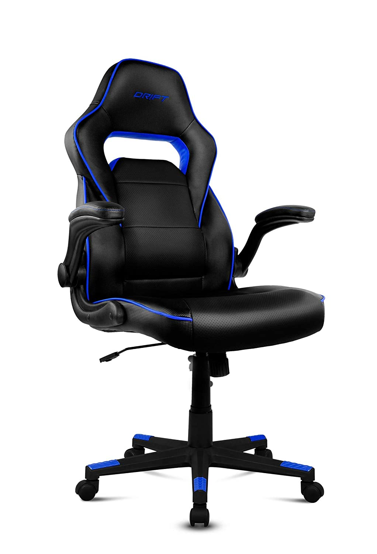 Drift DR75 - Silla de gaming de piel sintética , 66 x 53 x 115-123 cm, Negro y Azul: Drift: Amazon.es: Informática
