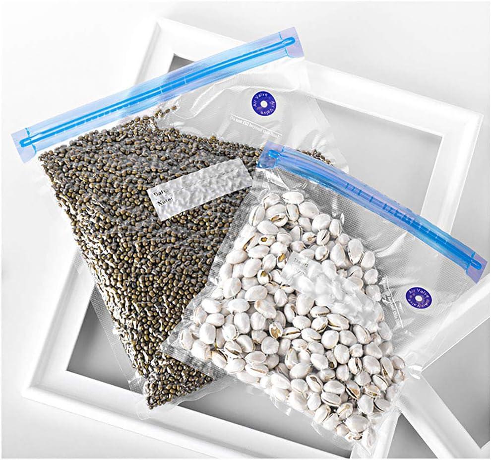 N//F Femongy Sous Vide Bolsas 2 Clips de Sellado para almacenar Alimentos Bolsa de Sellado al Vac/ío 3 Tama/ños 12 Piezas de Bolsas de Alimentos al vac/ío sin BPA Reutilizables con 1 Bomba Manual