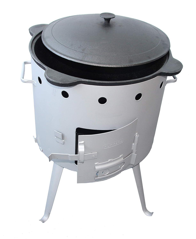 rukauf Utschak, Durchmesser: 44 cm, für 14-15L Kasan/Feldküche, Gulaschkessel Feuerkessel Outdoor Ofen