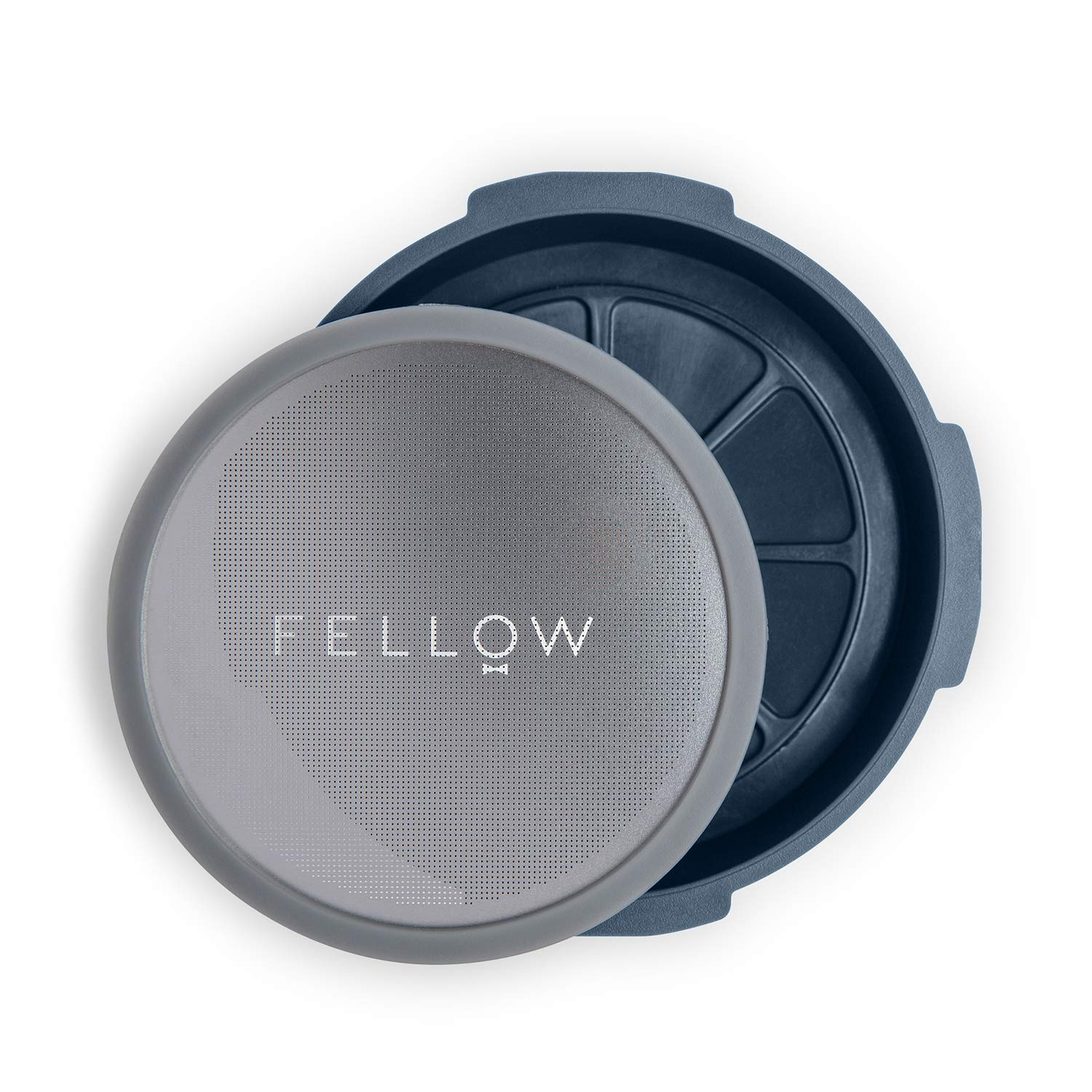 Fellow Reusable Filter and Pressure-Operated Accessories for The Aeropress Coffee Machine with Espresso Style, drip-Free Immersion and Cold Preparation at Home. Stone Blue