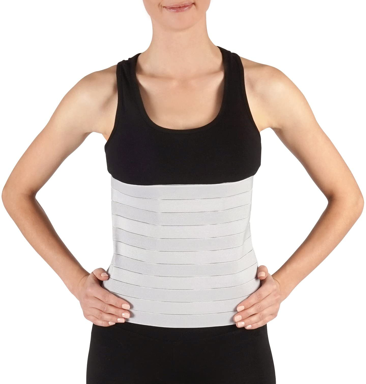 Faja Soles Compresión Abdominal | Apoyo Postquirúrgico y Postparto | Ajustable con envoltura abdominal y apoyo a la estabilidad muscular y esquelética | Unisex | Un tamaño para todos