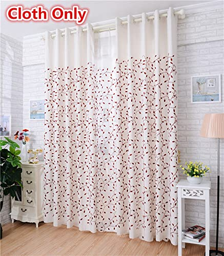WPKIRA 1 Panel Grommet Window Treatments Thermal Insulated Curtain Drapes Polyester Cotton Fabric Window Cover Screen for Living Room Decorative W75 x L96 inch