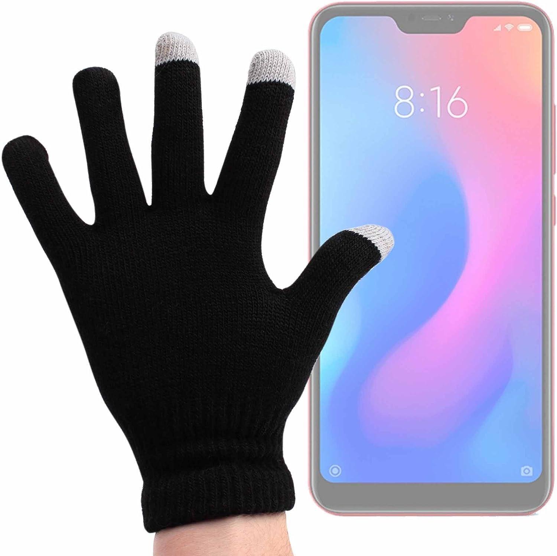 DURAGADGET Guantes Negros para Pantalla Táctil para Smartphone HAFURY UMAX, Huawei Honor 7S, Land Rover Explore, Xiaomi Redmi 6 Pro: Amazon.es: Electrónica