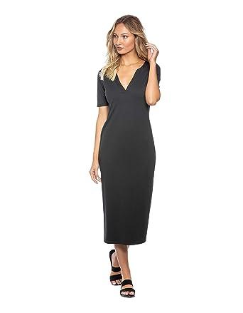 e086ccce67fe Amazon.com  Tavik Women s Bobbie Midi Rib Dress  Clothing