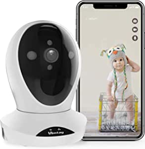 WiFi Security Camera Indoor-Vimtag Surveillance IP Camera, Dome 1080P HD WiFi Home Camera with Smart Motion Tracking, Night Vision, 2-Way Audio Baby Monitor Pet Cam for Home Security - Alexa Support