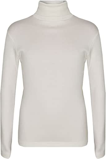 Kids Girls Polo Neck T Shirt Thick Cotton Turtleneck Jumper Long Sleeve Top 2-13