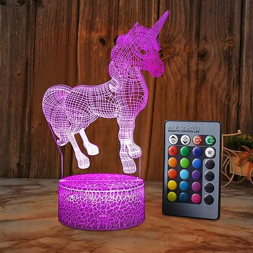 XEUYUTR Unicorn LED Lámpara de luz nocturna Habitación ...
