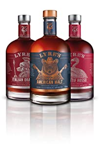Lyre's Boulevardier Non-Alcoholic Set (Pack of 3) | American Malt (Bourbon Style), Aperitif Rosso (Sweet Vermouth Style) & Italian Orange (Campari Style) | Award Winning | 23.7 Fl Oz