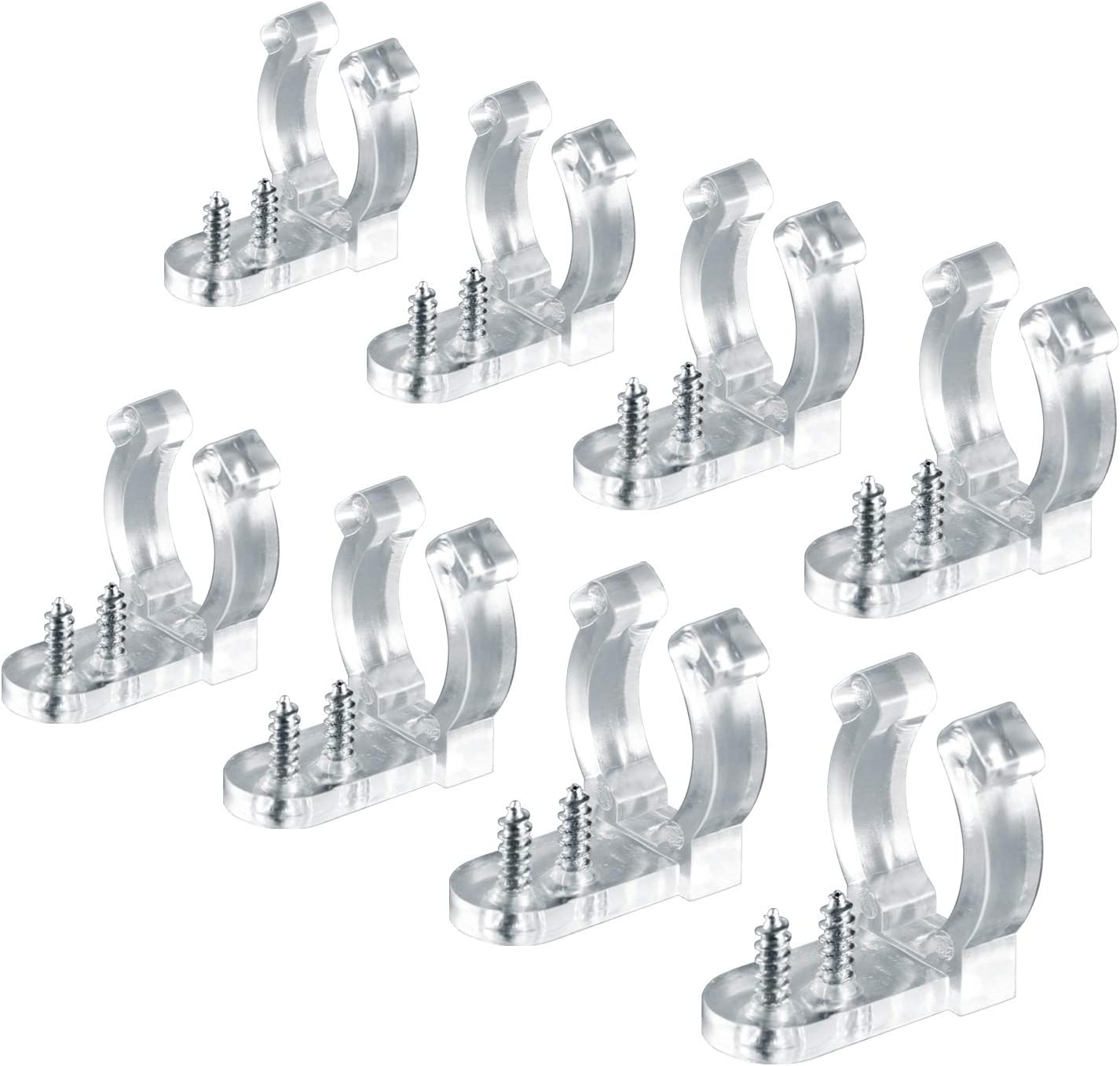 10 Pack Clear Outdoor Christmas Strip Rope Light Fixing Clips