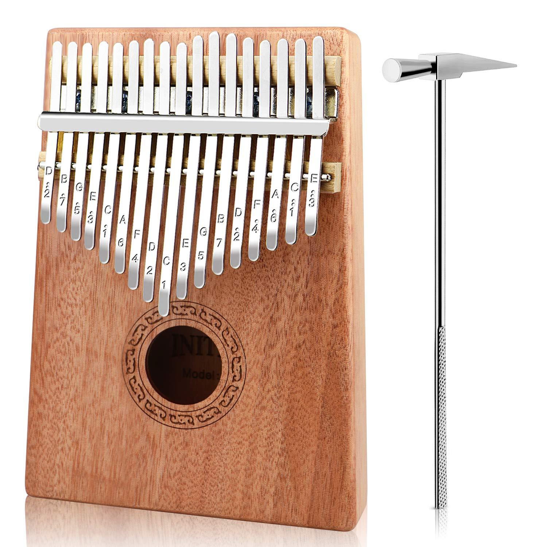 INITER 17 keys Kalimba Finger Piano Thumb Piano Mbira With Tune Hammer