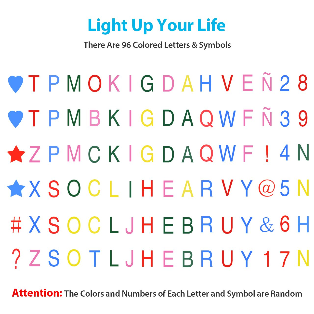 Topelek Light Box With Letters Symbols And Usb Cable Sign Box A4 Cinematic Letter Box Led Message Box For Home Wedding Party Decoration