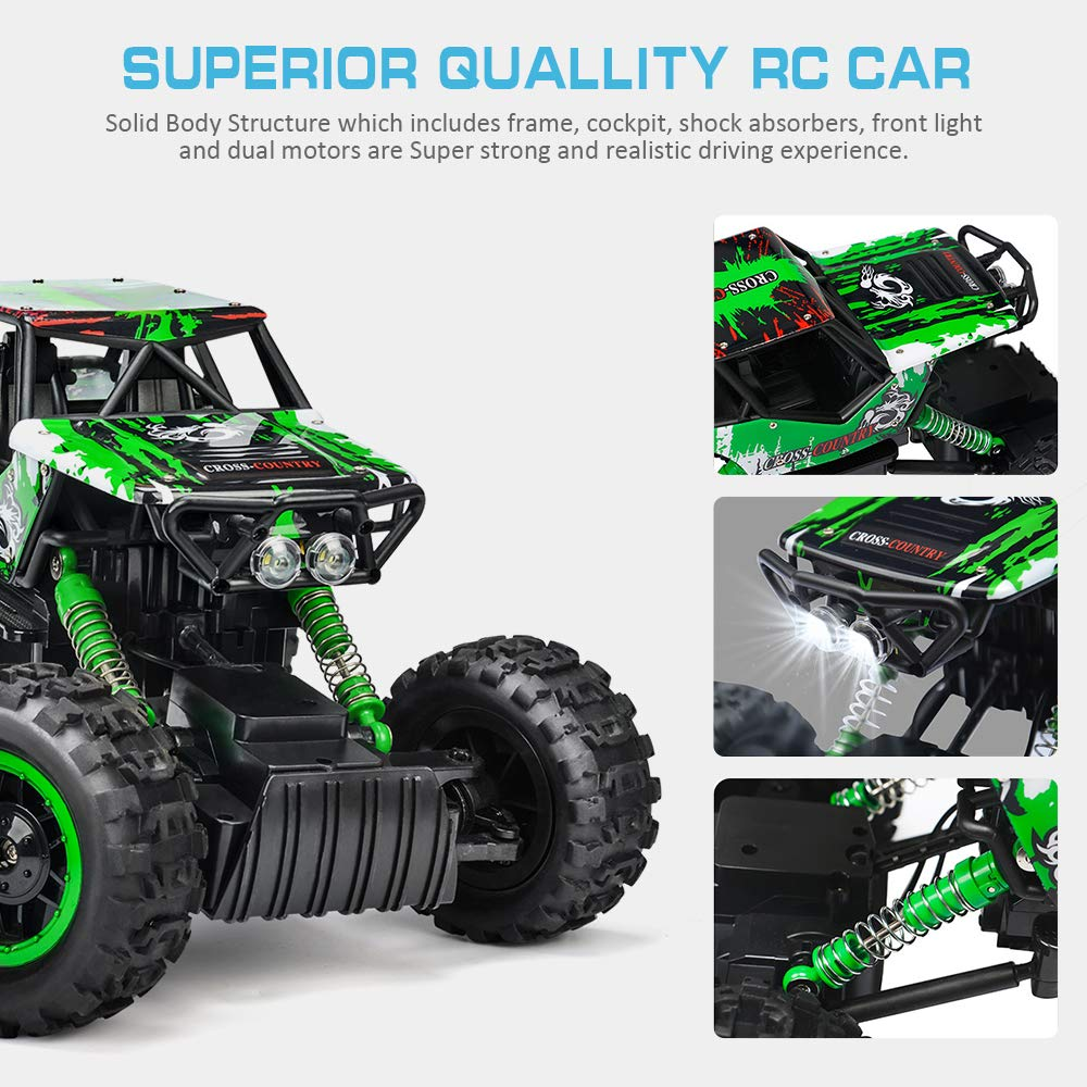 Double E 1/12 RC Rock Crawler Remote Control Truck 4WD Rechargeable Vehicles Off-Road Car by DOUBLE  E (Image #4)