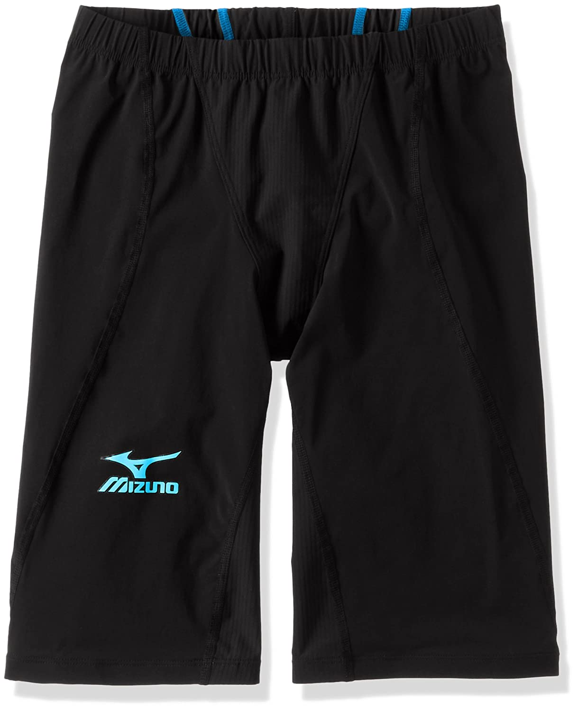 MIZUNO(ミズノ) レース用競泳水着 メンズ MX SONIC 02 ハーフスパッツ FINA承認 N2MB6011 B01BUP4EKA XXS 91:ブラック×ライトブルー