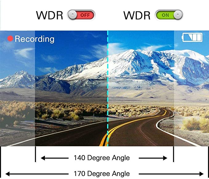 170/° Wide Angle Parking Monitoring Cliramer HD 1080P Car DVR Vehicle Camera Video Recorder Motion Detection Black Loop Recording Dash Cam Night Vision 1.7 inch G-Sensor