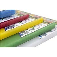 Playcorlat Set de 5 Tablas de Colores para Picar y Cortar Alimento de 30 cm x 50 cm x 1/2 pulgada, Evita la Cruza de…