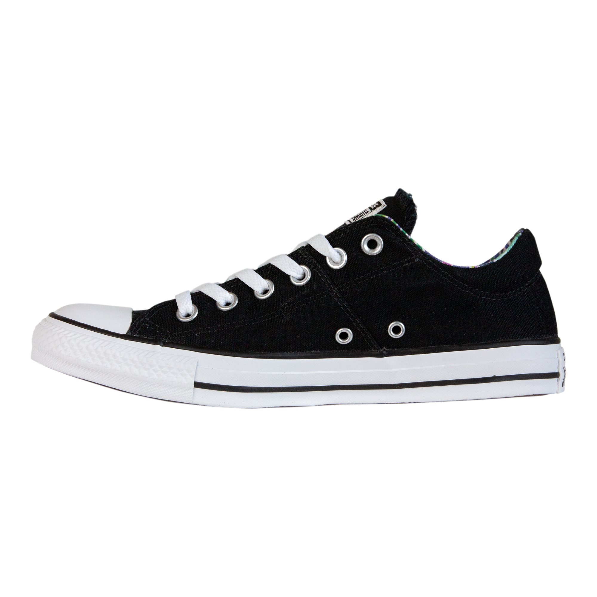 Converse Women's Chuck Taylor All Star Madison Sneakers, Black/White/White, 8 B(M) US by Converse (Image #2)