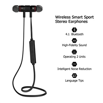 Mr. Gadgets Solutions XT 6 - Auriculares inalámbricos con Bluetooth (Metal, magnético)