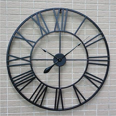 i più votati più recenti rivenditore di vendita Promozione delle vendite H&M Orologio da parete retro nero numeri romani orologio da ...