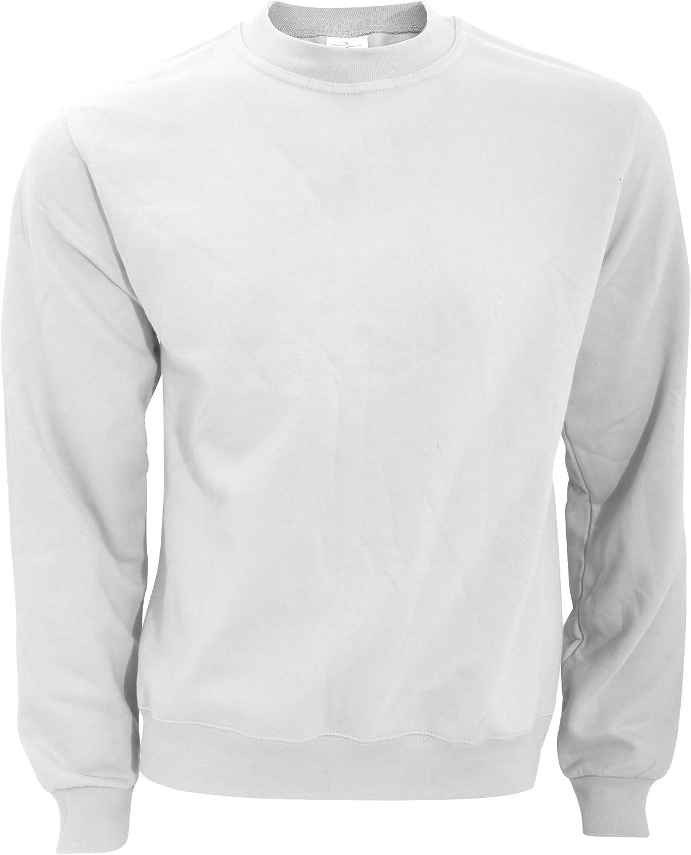 B&C Sweatshirt mit Rundhalsausschnitt Grau Meliert
