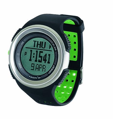 Tech4O Traileader Pro - Reloj de pulsera para deporte, color negro y acero
