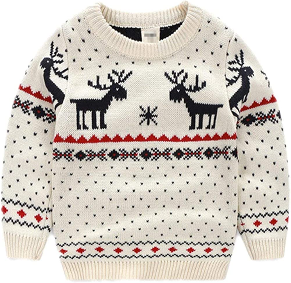 BESTERY Childrens Cotton Christmas Ugly Sweater Pullover Outfit Jumper for Christmas Party Photograph Best Gift