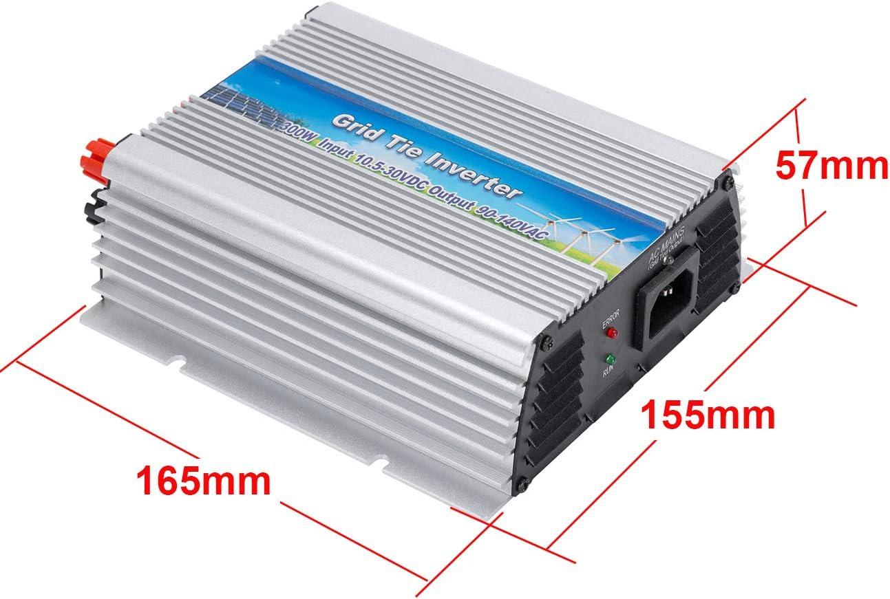 300W DC10.8V-30V iMeshbean Grid Tie Power Inverter 110V MPPT Pure Sine Wave Inverter for Solar Panel System Stackable
