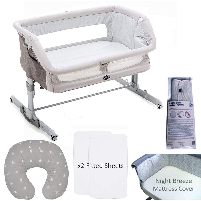 Legend Grey Chicco 5 Piece Next 2 Me Dream Crib Nursery Bundle