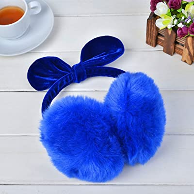 The harvest season- Hiver chaud Earmuffs oreilles Bow Tie dames garder chaud ensembles d'oreilles d'oreilles ( Couleur : Marine )