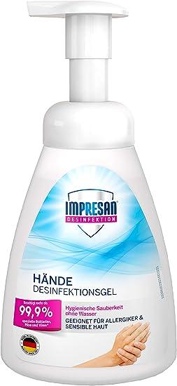 Impresan Desinfektionsmittel Fur Hande Mit Pumpe 250 Ml