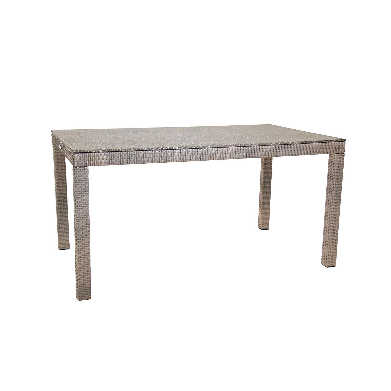 Greemotion Tisch mit Spraystoneplatte Manila, Mehrfarbig, ca. 140 x 80 x 74 cm