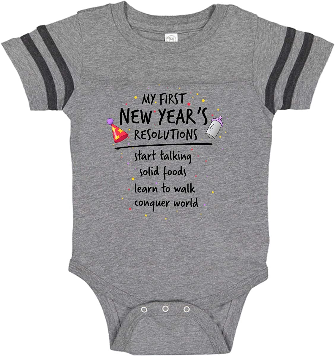 inktastic My First New Years Resolutions with Baby Clip Art and Toddler T-Shirt