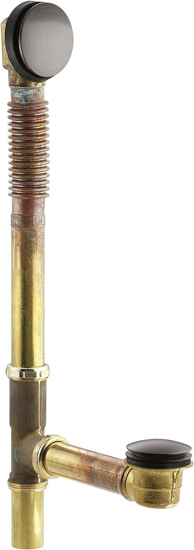Brushed Chrome KOHLER K-7259-G Clearflo Brass Toe Tap Bath Drain