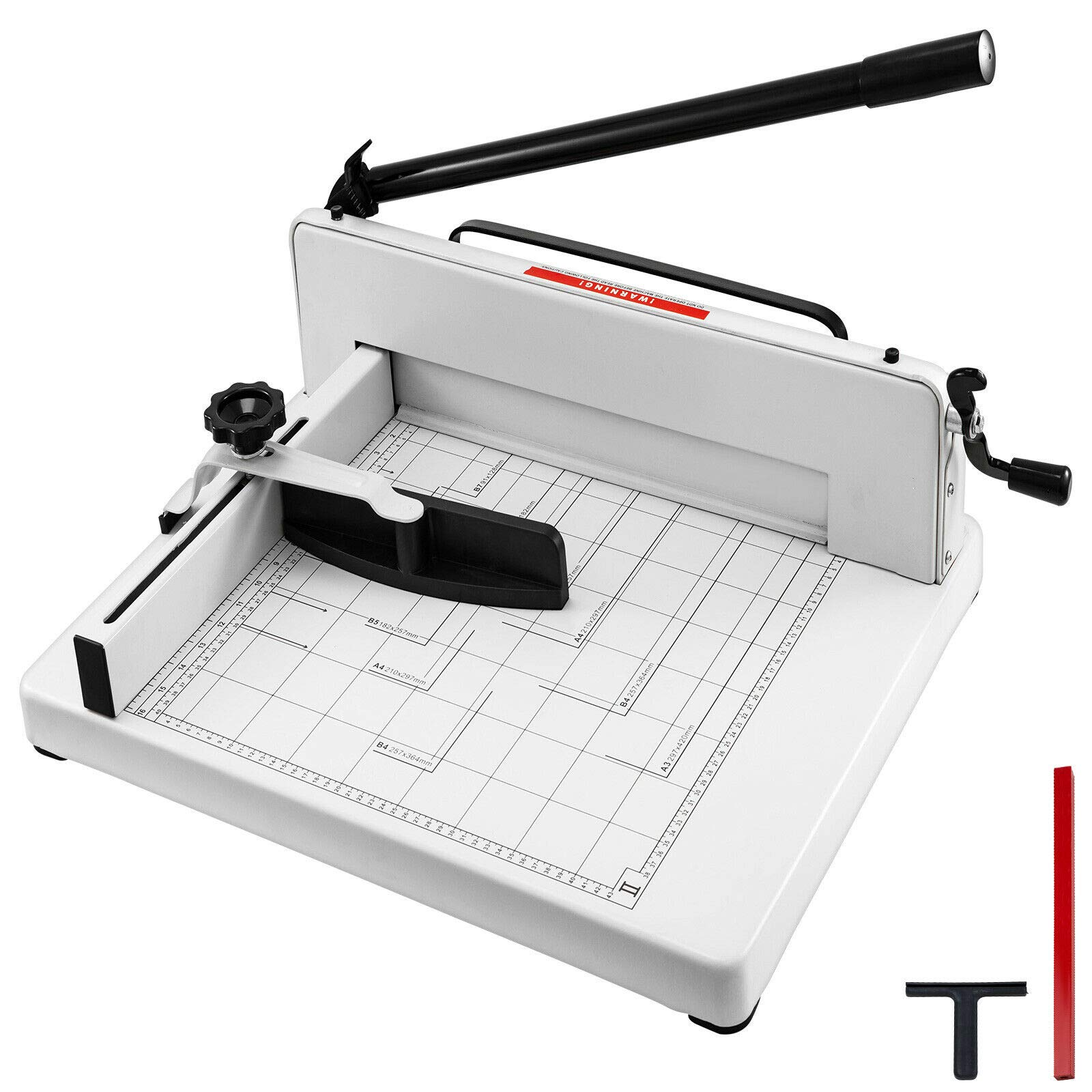 Mophorn Paper Cutter 12Inch A4 Industrial Heavy Duty Guillotine Trimmer 600 Sheets Paper Trimmer Metal Base Stack Cutter for Office Commercial Photocopy Printing Shop (A4, 12Inch) by Mophorn