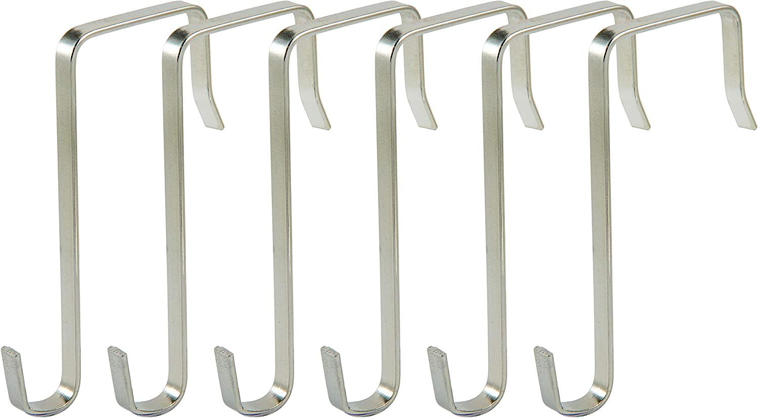 Chromed Steel also use with Cupboards Over Door Hook Pack of 1 Briliant Feet ODH35-1 Use with Doors up to 35mm Thick Cabinets and Drawers 5x1mm Cross Section