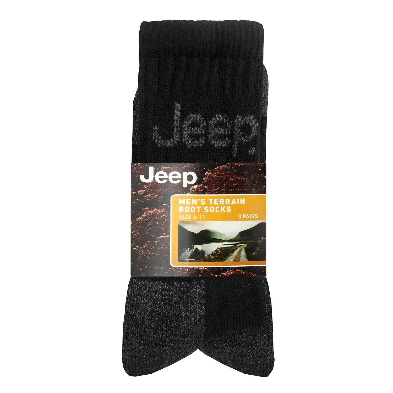 De senderismo calcetines para hombre Jeep territoriono negro 39 - 45 - 3 Pares: Amazon.es: Ropa y accesorios