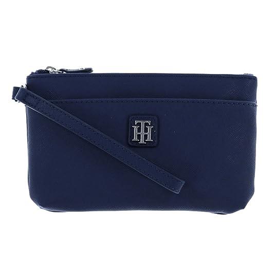 a5e4668f4e Tommy Hilfiger Womens Two Pocket Wristlet in Black: Handbags: Amazon.com