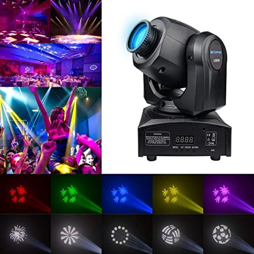 HDZWW Luz de Haz de Escenario de Cabeza móvil, proyector LED RGBW ...