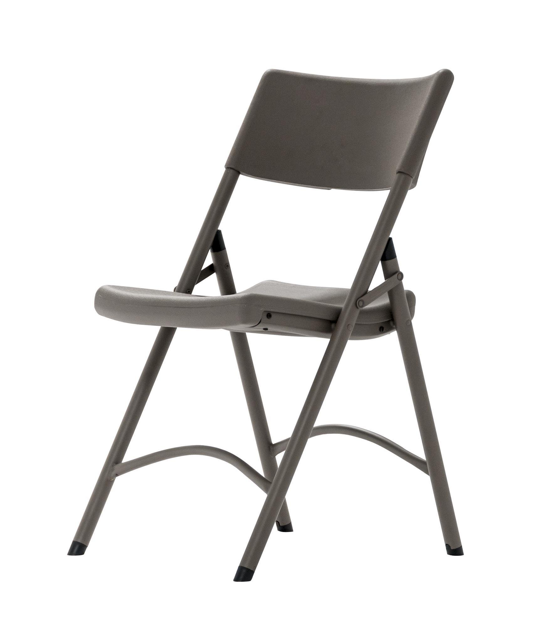 ZOWN Premium Commercial Blow Mold Banquet Folding Chair, Brown, 4 Pack by Cosco