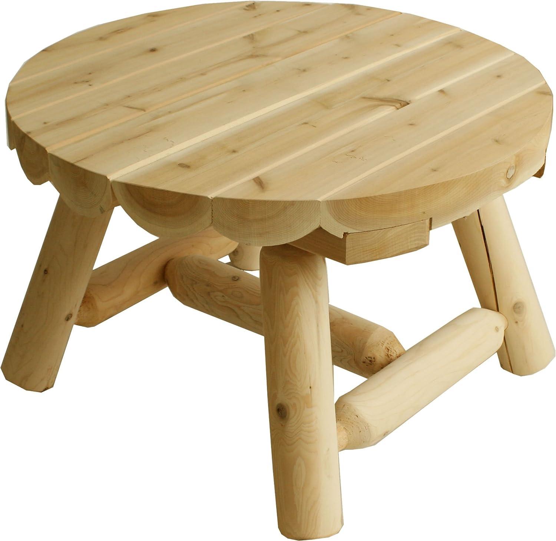 Cedar Looks ラウンドコーヒーテーブル NO9(SST) B01EN0OOCW